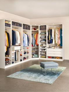 Begehbarer Kleiderschrank: Konfigurierter Schranksystem MODUL, individuell zusammenstellbar
