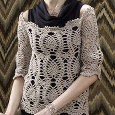 Come fare una maglia in cotone a uncinetto molto traforata ma romantica ed…