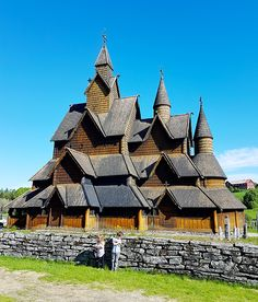 Chris' one request of our Norway trip was to see a Stave Church, so we googled around and found that the largest one in Norway is just two...