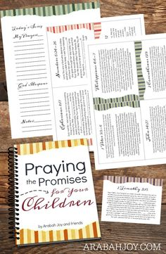 Praying the Promises of God for your kids is easy with this 40 Day Prayer Kit!