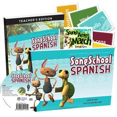 Song School Spanish from Classical Academic Press - Now there is a Spanish program suited to the energy, developmental level, and fun-loving nature of early elementary (1st-3rd) students! Classical education | homeschool curriculum | learn Spanish