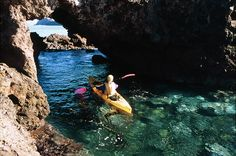 10 Adventures: Paddle Santa Cruz Island, California. Sea kayak through hundreds of caves with Aquasports guiding service.