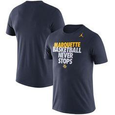 Marquette Golden Eagles Brand Jordan Basketball Never Stops Team T-Shirt -  Navy