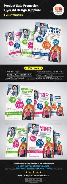 Product Sale Promotion Flyer Ad Template — Vector EPS #owner #advert • Available here → https://graphicriver.net/item/product-sale-promotion-flyer-ad-template/5736503?ref=pxcr