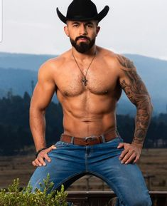 Hot Country Men, Perfect Man, Cowboys, Hot Guys, Sexy, Swimwear, Otters, Cubs, Cowboy Hats