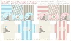 Basic Baby Shower Cards Printables | Peonies and Poppy Seeds: