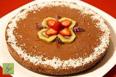 Mint and Chocolate Cake/Tort cu ciocolata si menta Raw Desserts, Healthy Desserts, Dessert Recipes, Raw Cake, Raw Vegan Recipes, Vegan Food, Chocolate Cake, Tiramisu, Acai Bowl