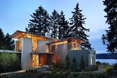 Architect designed this fiber cement panel home in the Seattle Area