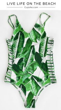 This Leaves Print One-piece Swimsuit is a perfect companion for a heated day at the beach! Soft fabric and awesome texture will support you best. It will make you the talk of the pool party.
