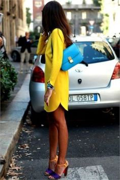 is this neon or just bright? LOVE it! especially the shoes.