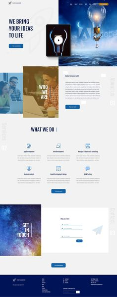 #homepage  for a #creativeagency   Need a website, or have project in mind? We'll love to help, give us a shout and let's bring your dreams to life.  #websitedesign #ui #uxdesign #uiuxdesign #business