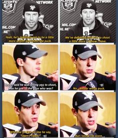 Pittsburgh isn't my favorite team, but this is funny :P James Neal and Evgeni Malkin