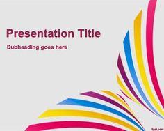 Plantilla PowerPoint para exposición es un fondo de PowerPoint simple con colores y efecto colorido para presentaciones de expos o exposiciones