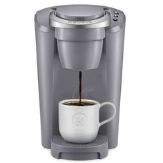 Keurig K-Compact Single-Serve K-Cup Pod Coffee Maker, Moonlight Grey, Gray Single Cup Coffee Maker, Pod Coffee Makers, Single Serve Coffee, Coffee Pods, Drip Coffee Maker, Coffee Beans, Reusable Coffee Filter, Coffee Brewer, Coffee Percolator