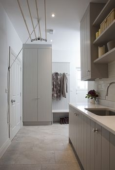 Create functional yet classy storage spaces with bootroom & laundry room storage. - Create functional yet classy storage spaces with bootroom & laundry room storage furniture, our des - Mudroom Laundry Room, Laundry Room Layouts, Laundry Room Organization, Laundry Room Design, Laundry Storage, Drying Rack Laundry, Laundry Decor, Drying Racks, Design Kitchen