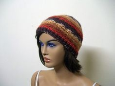 Knitting unisex beanie beret hat in brown by KnitterPrincess, $21.00