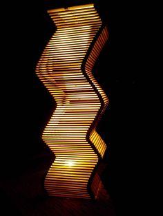 Open Light Project. Move. Lampada in abete austriaco. Montaggio libero di WoodnessDesign su Etsy