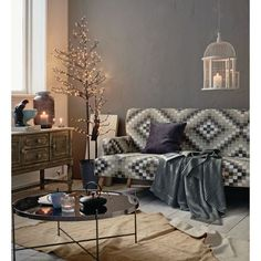 Sofa, Retro-Muster, Baumwollbezug Katalogbild
