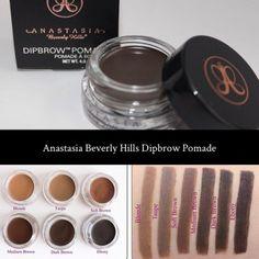 Anastasia Beverly Hills dipbrow swatches
