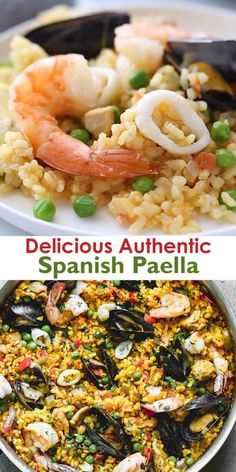 Seafood Dishes, Seafood Recipes, Mexican Food Recipes, Dinner Recipes, Cooking Recipes, Spanish Food Recipes, Authentic Spanish Recipes, Chicken Recipes, Best Paella Recipe