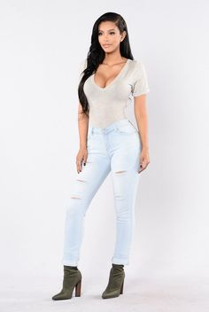 24add70041396 Feeling This Way Jeans - Light Wash