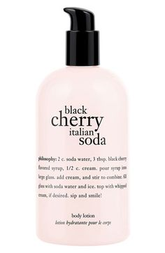philosophy black cherry italian soda body lotion