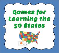 Games for Learning the 50 States #homeschool #geography #usa