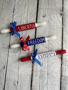 Fouth Of July Crafts, 4th July Crafts, Fourth Of July Decor, 4th Of July Decorations, July 4th, Americana Crafts, Patriotic Crafts, Blue Crafts, Rolling Pins