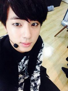 Jin ♥ BTS Love his black hair, it makes his eyes pop