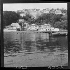 Photograph taken for the Evening Post newspaper of Wellington by an unidentified staff photographer. Quantity: 1 b&w original negative(s). Old Pictures, Old Photos, The Hutt, Bay Photo, Swim Training, Kiwiana, British Isles, House Front, What Is Like