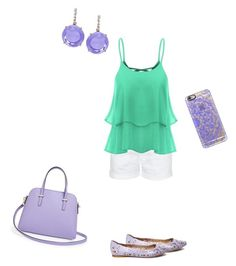 """Spring Lilac and Mint"" by anyapots ❤ liked on Polyvore featuring interior, interiors, interior design, home, home decor, interior decorating, Current/Elliott, Steve Madden, Kate Spade and Casetify"