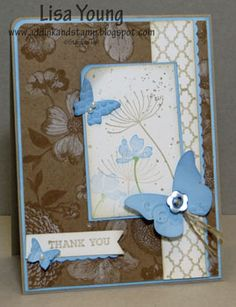 Summer Silhouettes Bashful Blue by genesis - Cards and Paper Crafts at Splitcoaststampers