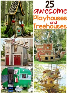 25 awesome ideas for playhouses and treehouses - Design Dazzle Please visit our website @ https://www.freecycleusa.com for awesome stuff.