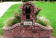 Brick Mailbox - I think this would look nice in our yard Mailbox Planter, Brick Planter, Mailbox Garden, Mailbox Landscaping, Landscaping Ideas, Planters, Brick Projects, Outdoor Projects, Outdoor Ideas