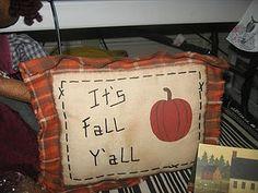 Fall pillow - cute