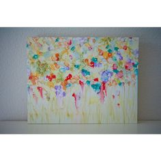 Summer Wildflower Field ($70) ❤ liked on Polyvore featuring home, home decor, wall art, photography wall art, photo wall art, water ink painting, photo painting and field painting
