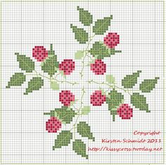 cross stitch berry plants