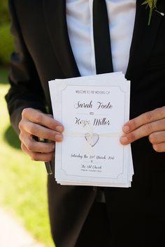 cute wedding programs, want more http://www.weddingchicks.com/2013/08/30/modern-chic-wedding/