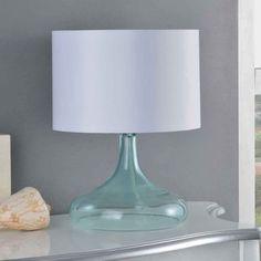 Creek Classics Blue Glass 16.5-inch Table Lamp - Overstock Shopping - Great Deals on Table Lamps