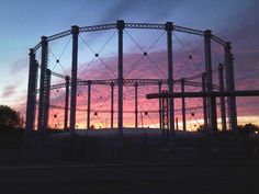 Sunset over the Gasometer, Northampton  England