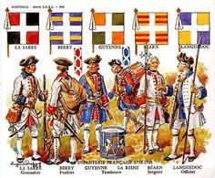 French regiments and their standards.
