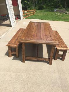 Post leg Farm table