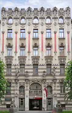 Art Nouveau Architecture | books n buildings - Art Nouveau architecture from Riga, Latvia. UNESCO ...
