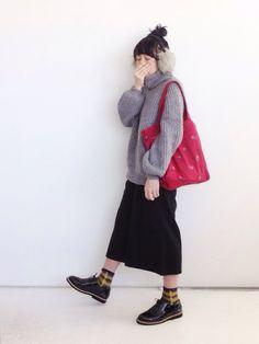 SACHIさんのソックス/靴下「靴下屋 【WOMEN】ふわふわチェック柄ショートソックス」を使ったコーディネート