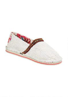 Tigerbear Republik Hicky Lace Slip-on from delias. Saved to Shoes, Boots & Sneakers. Lace Slip, Slip On, Cute Casual Shoes, Latest Fashion, Fashion Tips, Espadrilles, Slippers, Boots, Fashion Hacks