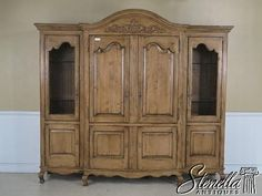 42892E: BAUSMAN Large Country French Armoire TV Cabinet