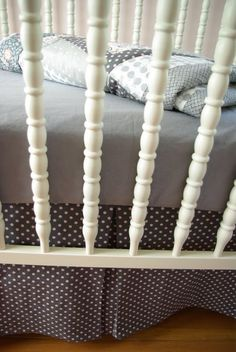 crib sheet and bed skirt tutorial - one day I might get Khloes crib skirt done