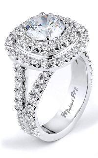 Fine Rings 0.88 Carat Round Diamond Wedding Eternity Ring 14k White Gold French Pave Set Durable Modeling Diamond