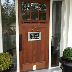 The fairy door. Welcome little ones