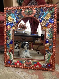 Jewelry Mirror II by Fine China Mosaics